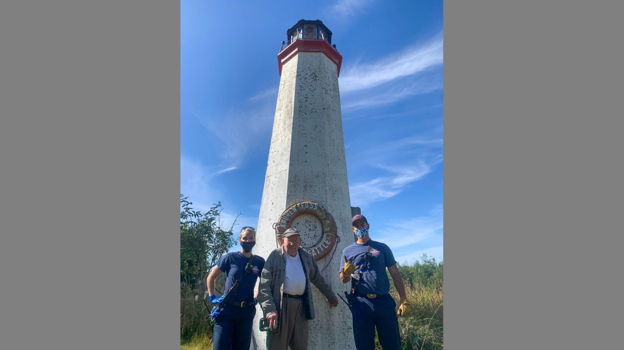 Elderly couple's lighthouse is dark no more thanks to Graham firefighters
