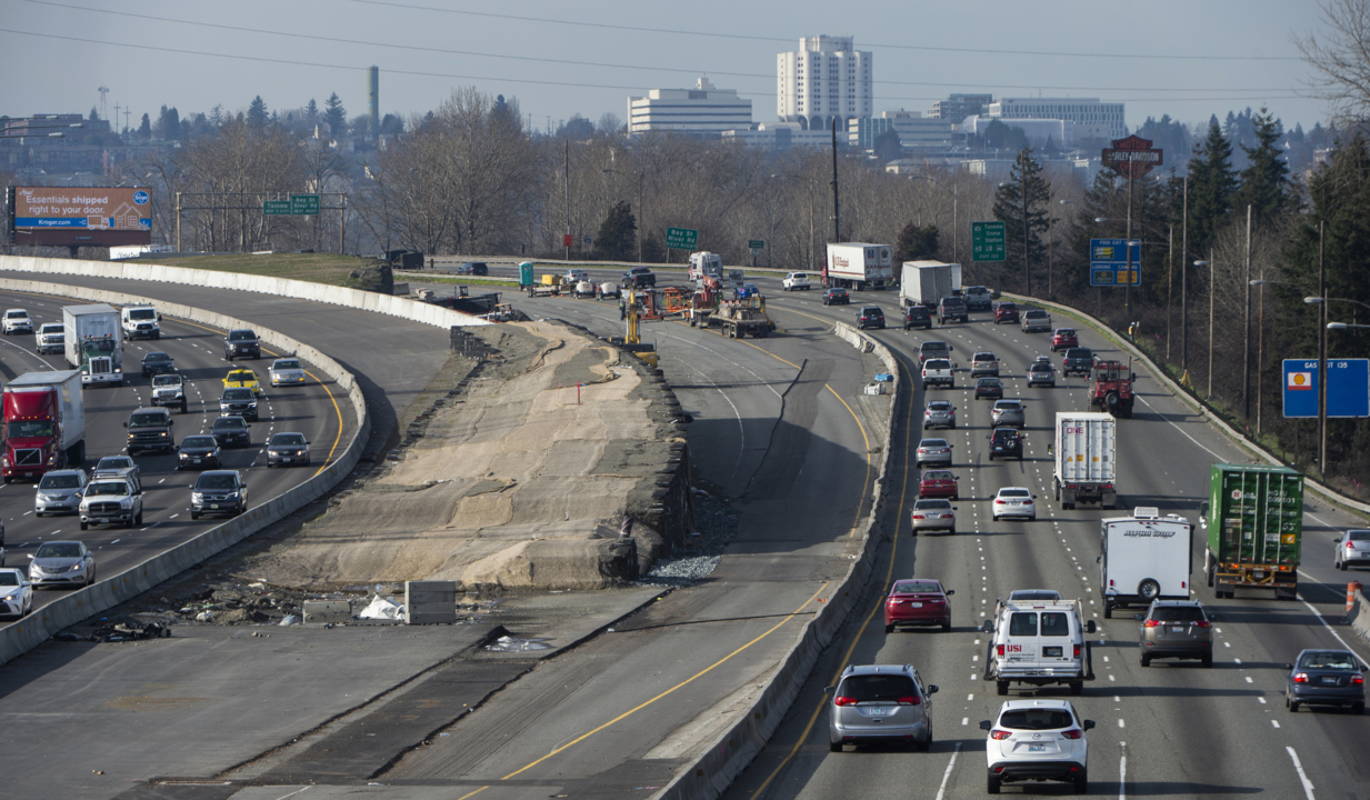 More I-5 lane shifts in the works, this time near the Tacoma Mall