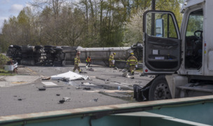 Collision of tractor trailers slows Port of Tacoma traffic