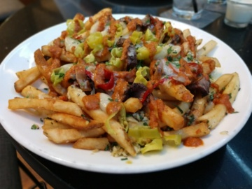 In a town filled with loaded fries, here's another for your list. There's a huge burger, too