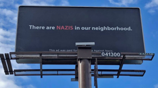 'Nazis' billboard goes up on Pacific Avenue