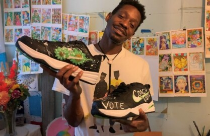 Tacoma artist Perry Porter on the art he designed for Pete Carroll to wear in Sunday's game against the Miami Dolphins