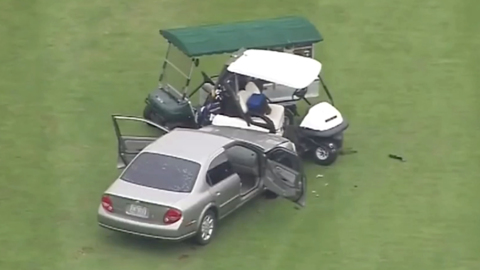 Lacey golfers are rammed by car driver