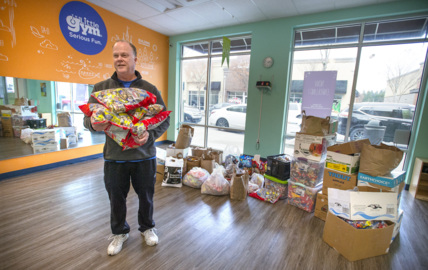 South Hill business corrals 1,000 pounds of Halloween candy for troops