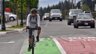 If there is no bike lane, where should bicyclists ride?