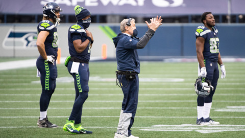 Pete Carroll believes Seahawks let this 12-win season 'get away' in thudding playoff loss to Rams