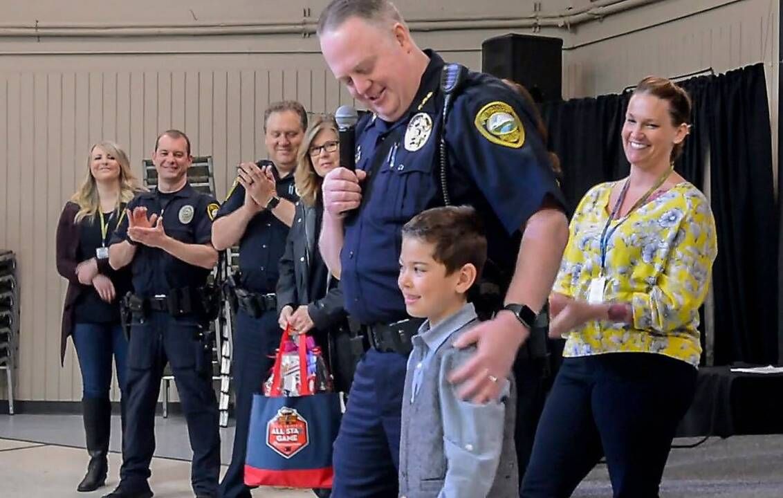 Justus Fuccillo is Puyallup Police 'Chief for a Day' | Tacoma News