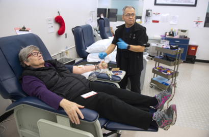 Snow storm drained region's blood supply