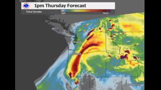 Latest Northwest map shows smoke forecast improving