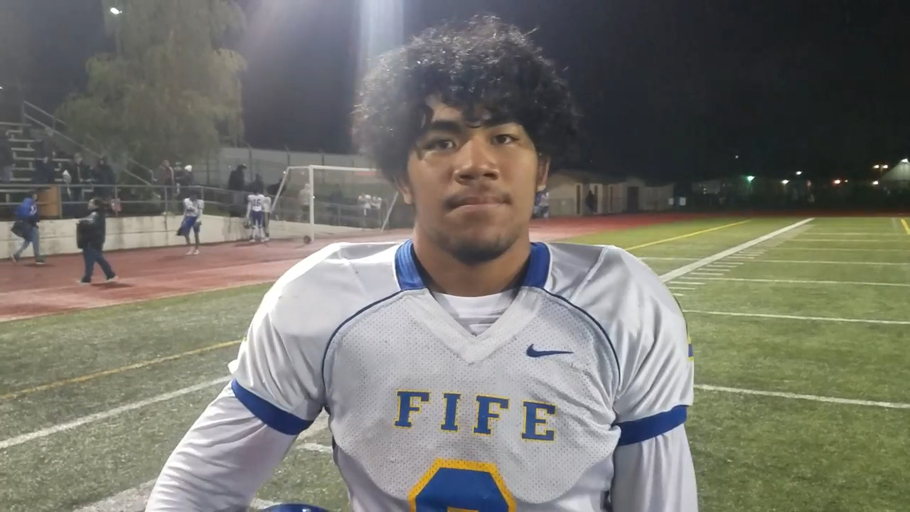 He was stabbed by a classmate freshman year. That was a turning point for Fife football star Samuelu