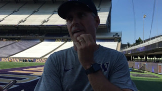 'One phase is looking pretty good. The other two we've got some work to do,' says Huskies coach Chris Petersen
