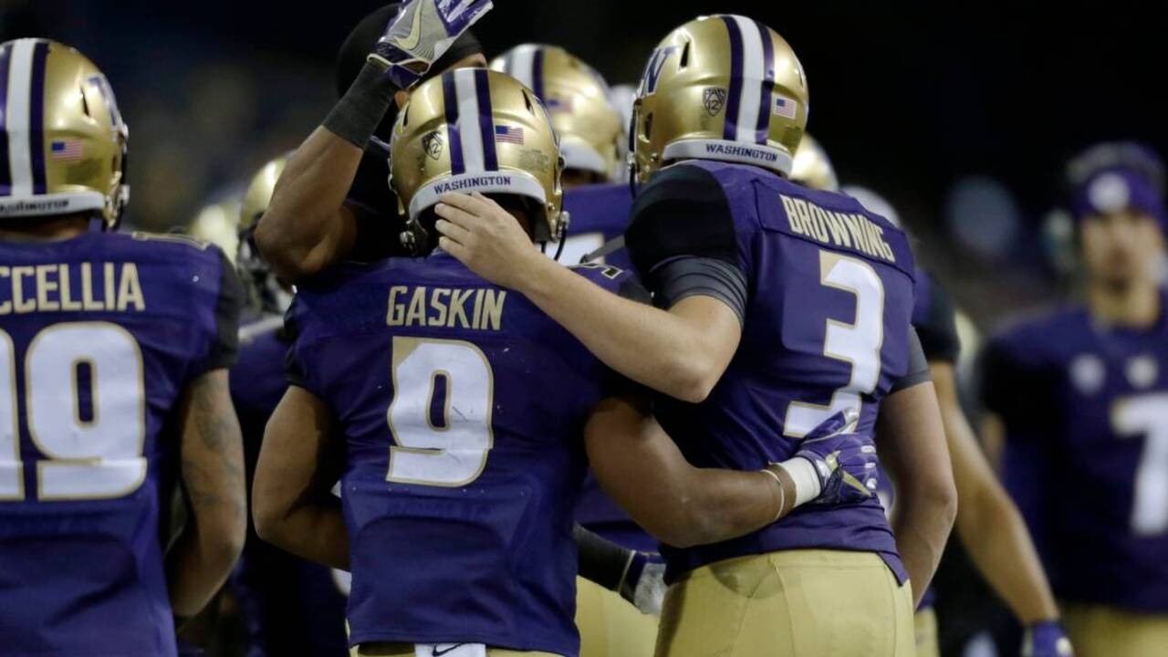 UW's Jake Browning, Myles Gaskin haven't always seen eye to eye. That only fueled their relationship