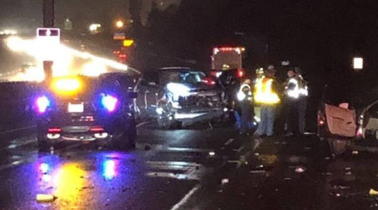 Fatal crash on I-5 near Milton causing traffic backups. Woman, 18, arrested for DUI