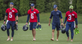 Why Russell Wilson isn't wearing shoes, what's changed having a new play caller and coordinator