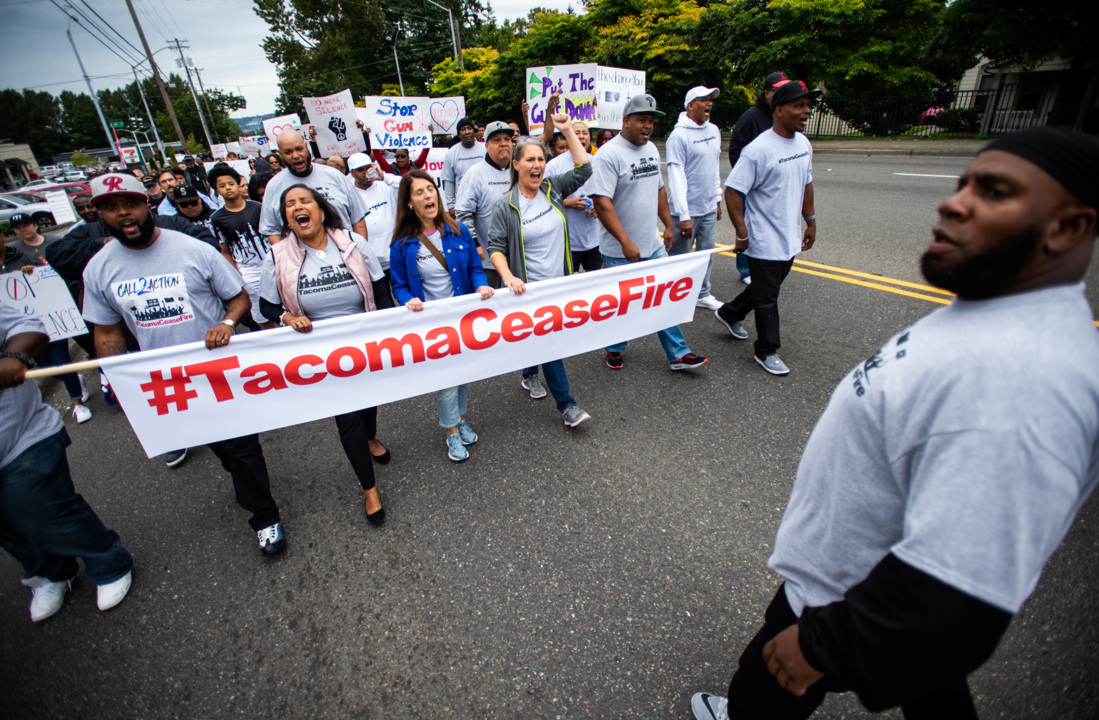 March for ceasefire of gang violence in Tacoma becomes walk of grief for victims