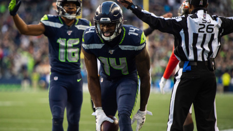 'When we need him to make a big-time play, he's always there.' Seahawks rookie DK Metcalf has career day against Bucs