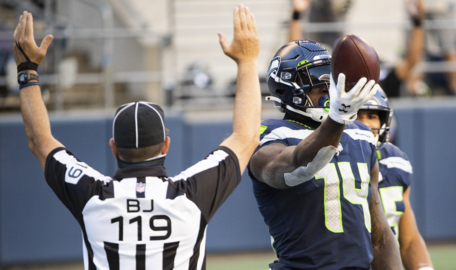 """DK Metcalf on Seahawks' TD passes: """"They are like Pokemon to me. I've got to have them all."""""""