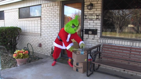 Fort Worth police announce their plan to use bait packages with help from the Grinch