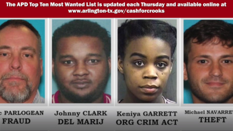 Arlington Police's 10 Most Wanted Criminals, November 28