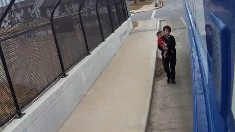 Bus driver saves baby wandering on Wisconsin freeway overpass