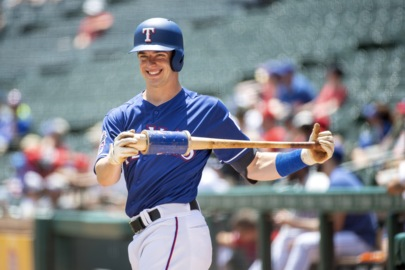 Nick Solak started Tuesday in Oklahoma, ended it with Rangers