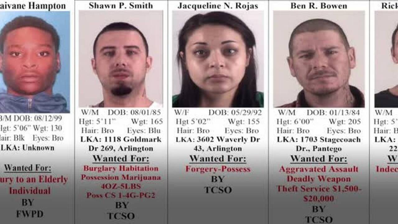 Crime Stoppers: Tarrant County's 10 Most Wanted Criminals