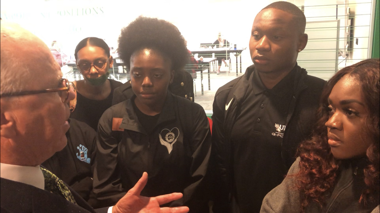 UNT president apologizes, speaks to students at sit-in following lawyer's use of n-word