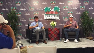 Aaron Wise speaks at Fort Worth Invitational