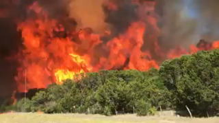 Wildfire rages in Palo Pinto County