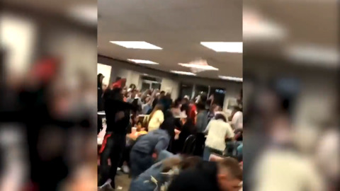 Giant food fight breaks out in Whataburger between rival high schools