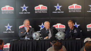 Jason Garrett asked about F-bomb and Jerry Jones adds one more