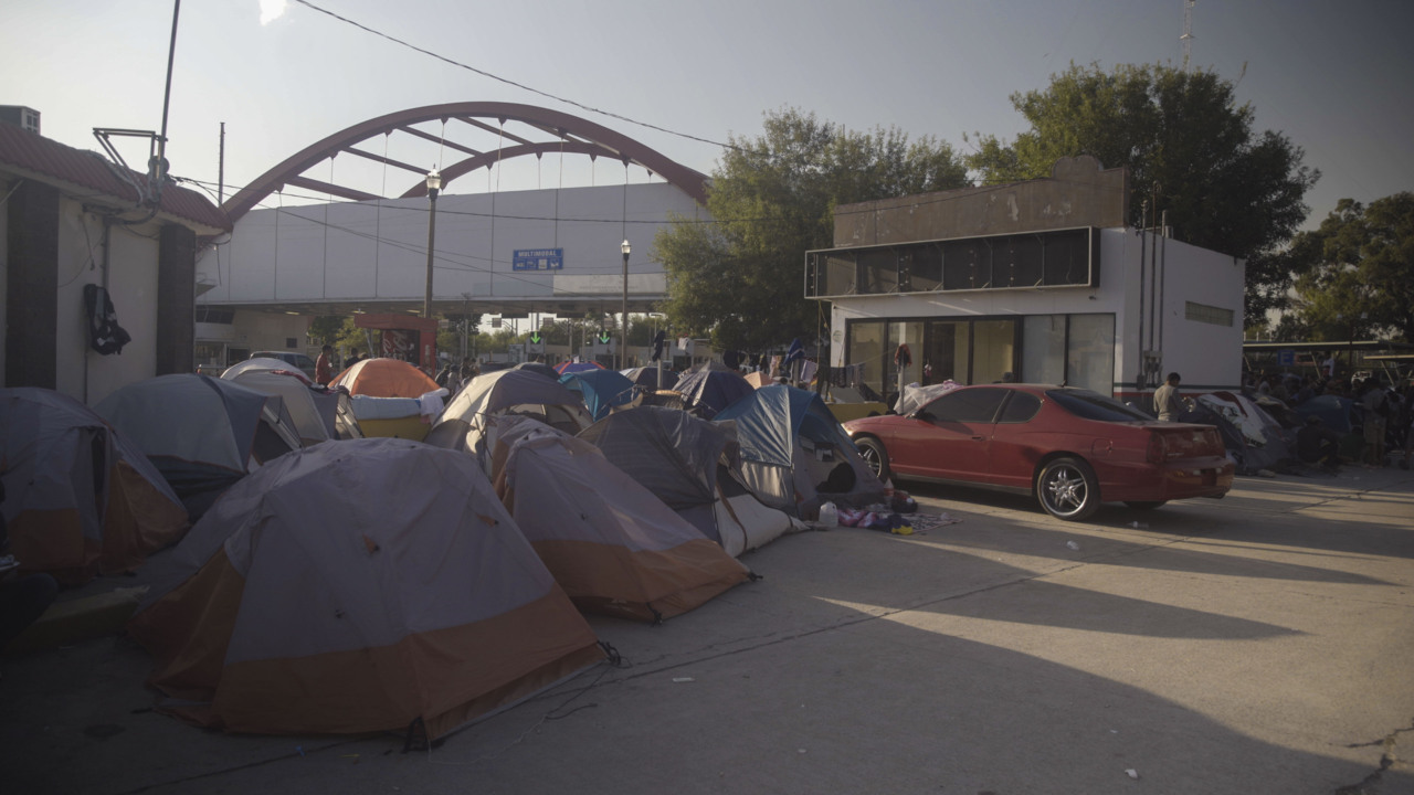 'Afraid ... for the children.' Inside the Mexico tent city where asylum seekers live and wait