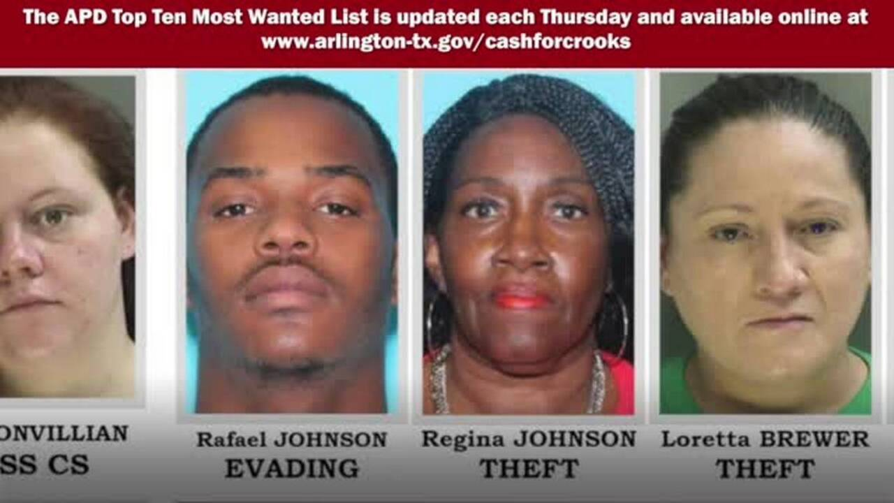 Crime Stoppers: Arlington Police's 10 Most Wanted Criminals