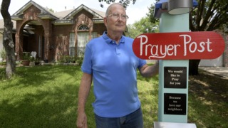 Jack Reiser's faith in God and the power of prayer lead him to install a rather unconventional mailbox