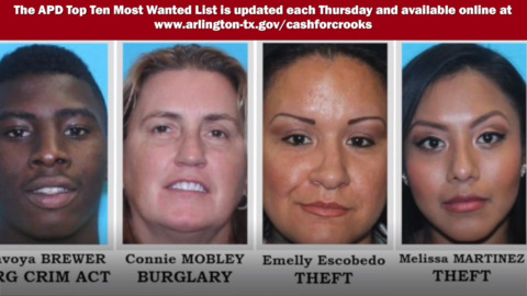 Arlington Police's 10 Most Wanted Criminals, December 5
