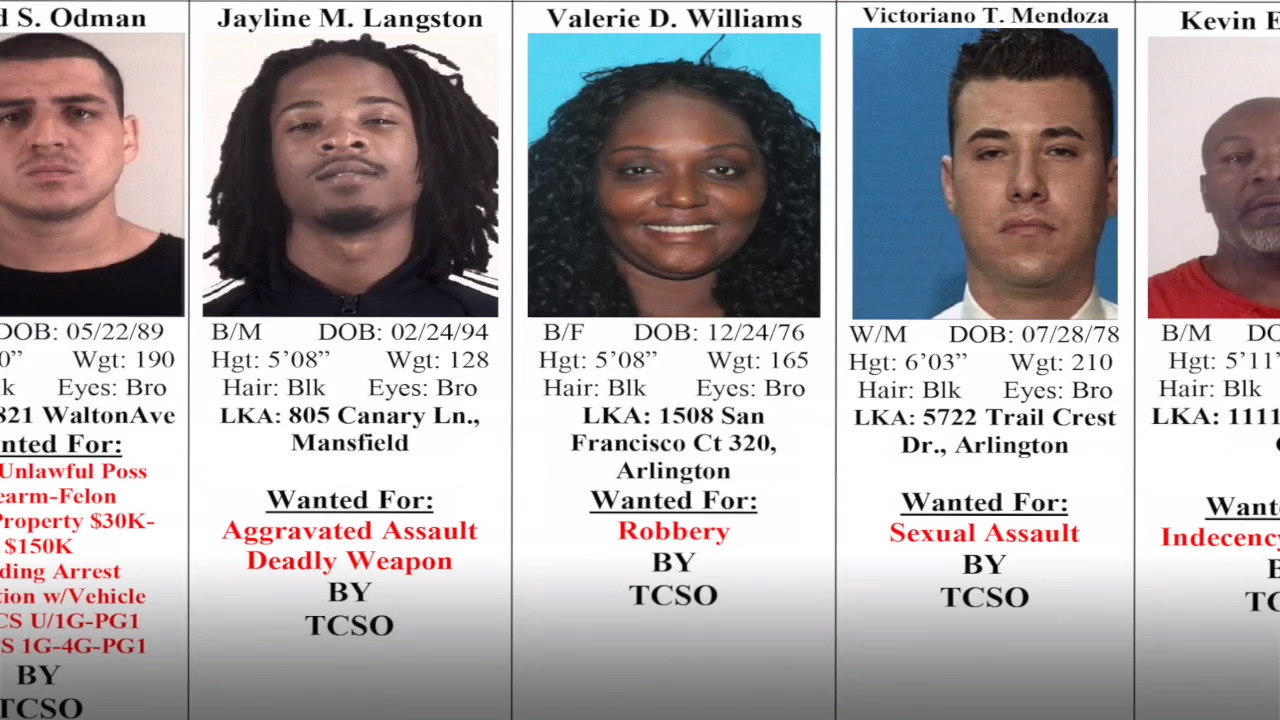 Crime Stoppers: Tarrant County's 10 Most Wanted Criminals, May 9