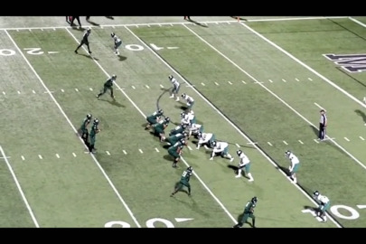 WATCH as Lake Ridge running back Myles Featherston takes a swing pass 14 yards for a touchdown against Waxahachie