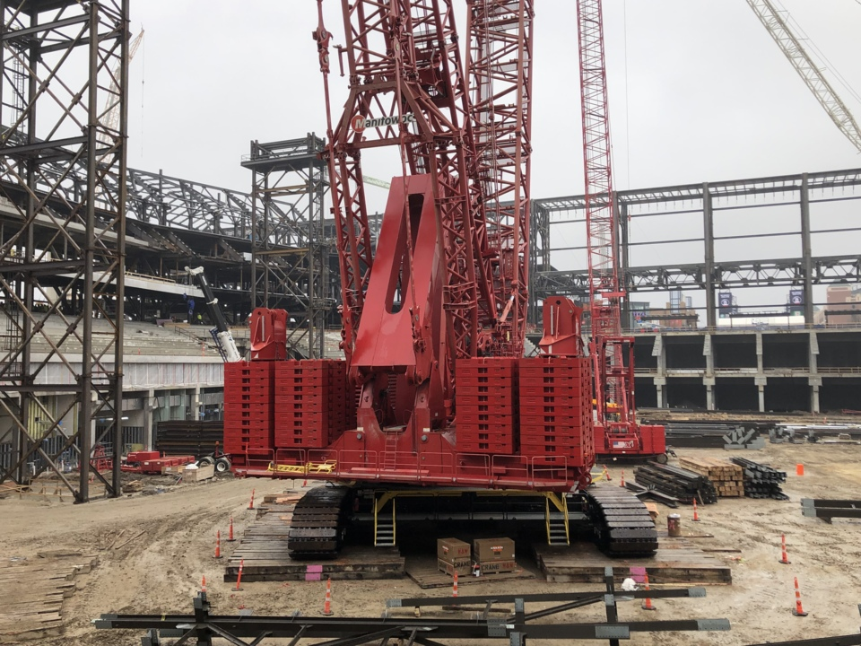 Texas Rangers  Crane at Globe Life Field can t be missed  249b03cf2
