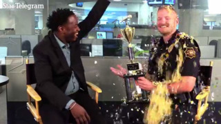 Texas police officer showered in confetti for winning the police lip sync battle in Dallas-Fort Worth
