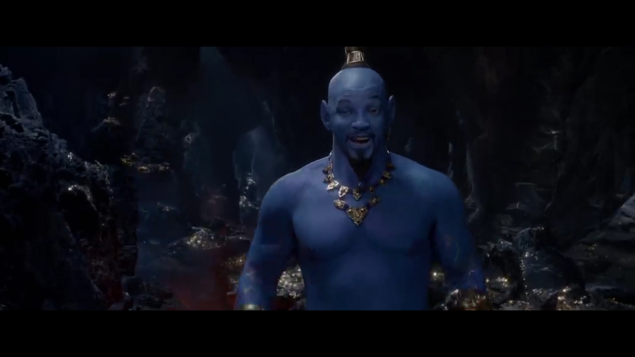 Check out an all-blue Will Smith as Aladdin's Genie. Reaction has been 'VISCERAL'