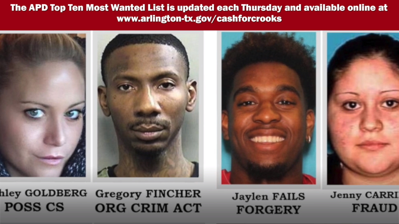 video: arlington police's 10 most wanted criminals, may 23 | fort