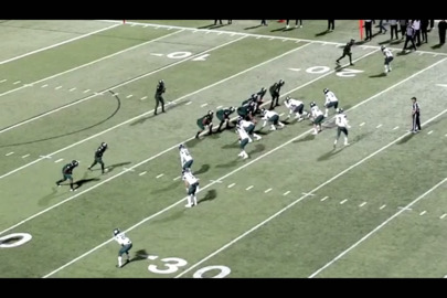 WATCH as the turf monster keeps Mansfield Lake Ridge quarterback Adrian Hawkins from a sure touchdown
