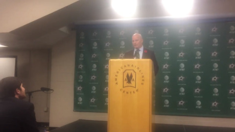 Jim Montgomery talks Dallas Stars' overtime loss to the Nashville Predators