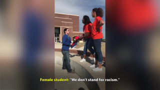 Peaceful protest at Texas high school becomes racially charged