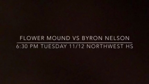 The rematch is set between Flower Mound and Byron Nelson