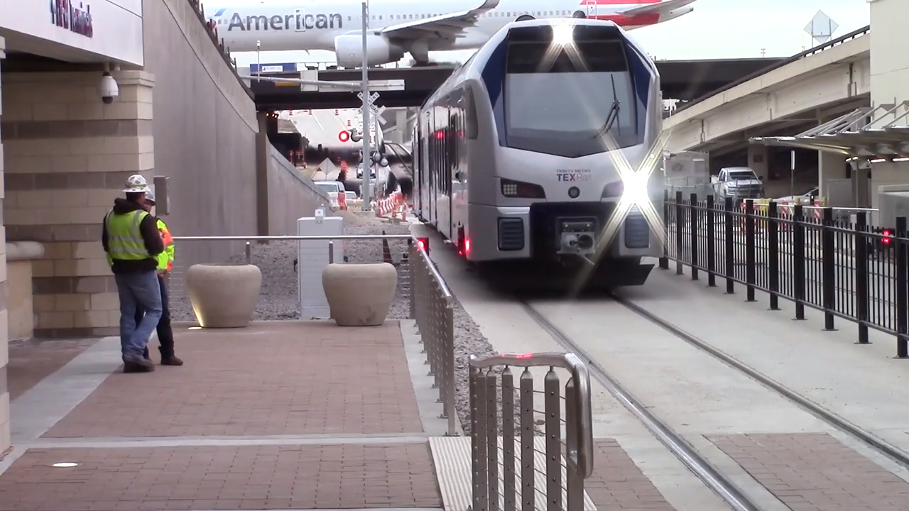 Soon, you'll be able to take a train from Fort Worth to Plano. Sort of.
