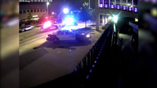 Watch as a bull leads officers on a car chase through Oklahoma Stockyards