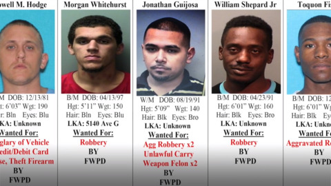 Tarrant County's 10 Most Wanted Criminals, December 5