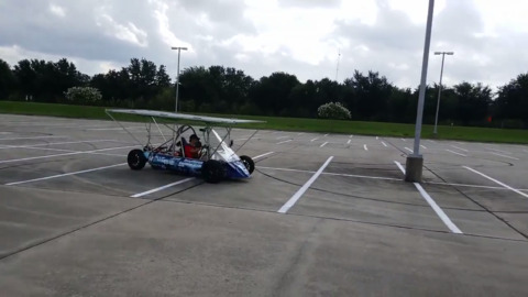 Solar Car Academy shows off its solar-powered car in Irving