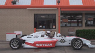 We drove an Indycar around Fort Worth, through a Whataburger drive-thru